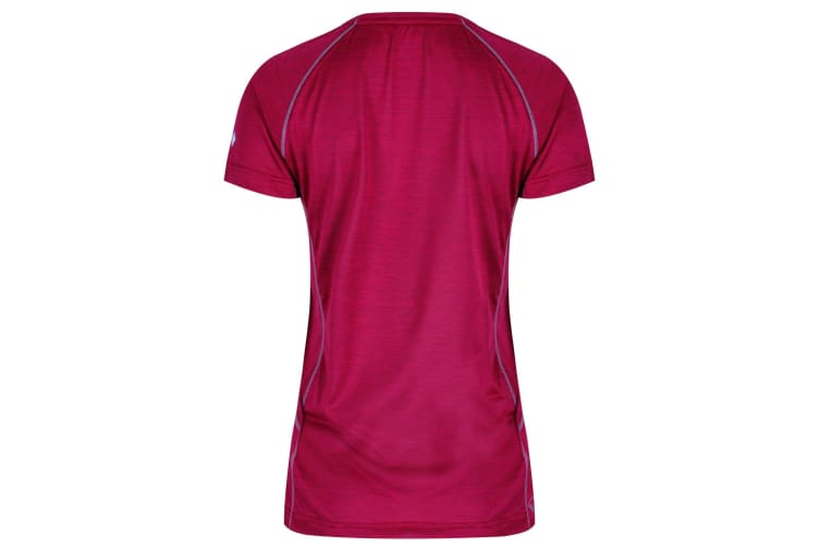 Regatta Womens Deserta Moisture Wicking T-Shirt (Dark Cerise) (12 UK)