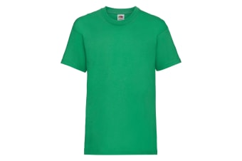 Fruit Of The Loom Childrens/Kids Unisex Valueweight Short Sleeve T-Shirt (Pack of 2) (Kelly Green) (9-11)
