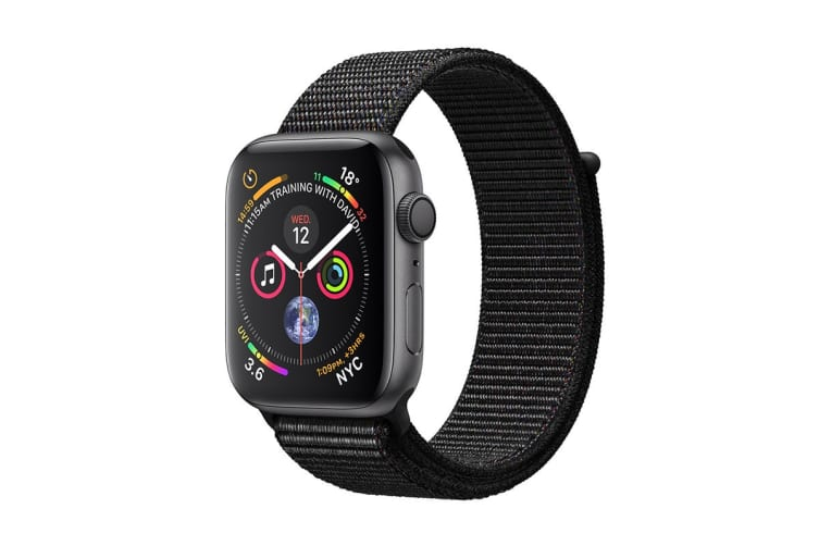 Apple Watch Series 4 (Space Grey, 44mm, Black Sport Loop, GPS Only)