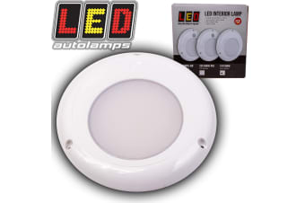 LED AUTOLAMPS INTERIOR DOME LIGHT LAMP ROUND ROOF CABIN BOAT CARAVAN WHITE 12V