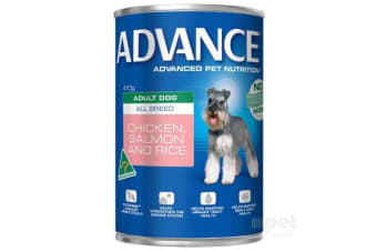 Advance Adult Chicken Salmon Rice Cans - 12cans