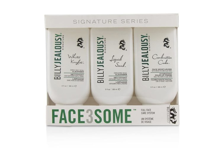 Billy Jealousy Face3Some Kit: Face Moisturizer 88ml + Exfoliating Facial Cleanser 88ml + Gentle Daily Facial Cleanser 88ml 3pcs