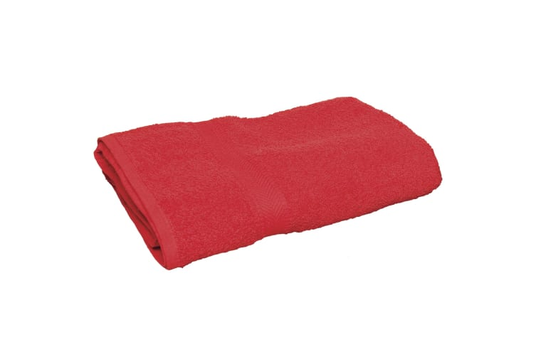 Towel City Luxury Range Guest Bath Towel (550 GSM) (Red) (One Size)