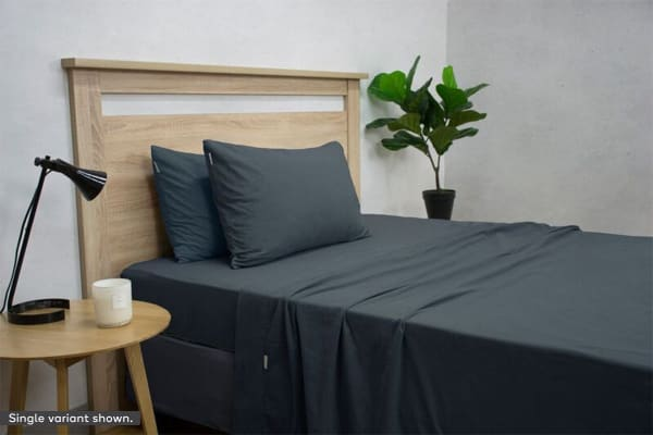 Apartmento Micro Flannel Sheet Set Navy (Double)