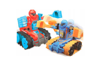2x Maisto Tech RC Twin Tank Transform Robo Fighters Remote Control Kids Toy 5y+