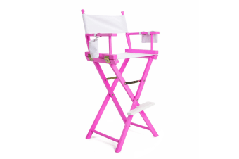 Tall Director Chair - PINK HUMOR