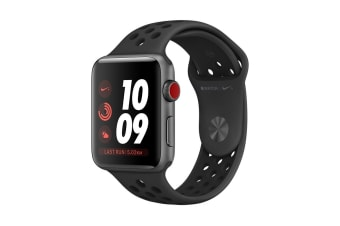 Apple Watch Series 3 (Space Grey, 38mm, Anthracite/Black Nike Sport Band, GPS + Cellular)