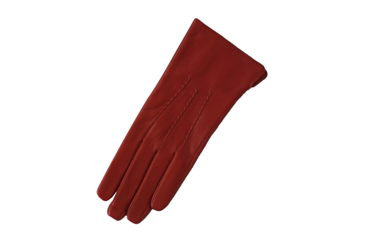 Eastern Counties Leather Womens/Ladies 3 Point Stitch Detail Gloves (Brown) (XL)