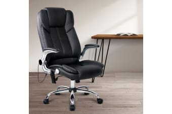 Artiss 8 Point Massage Office Chairs Computer Desk Chairs Armrests Black