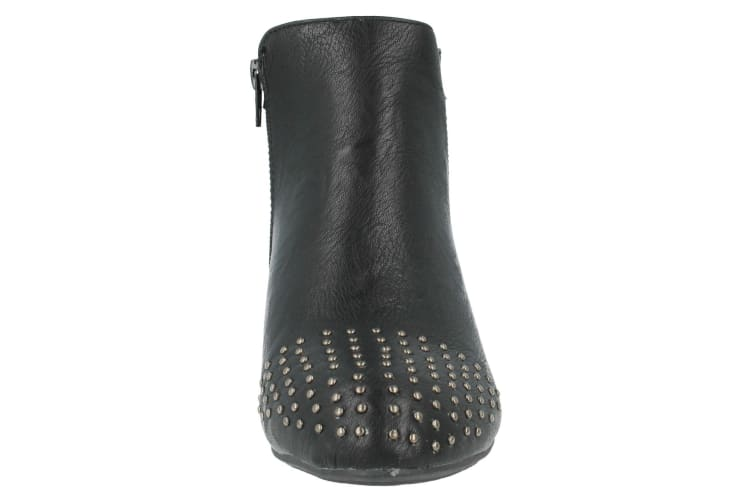 Spot On Womens/Ladies Low Heel Studded Ankle Boots (Black) (4 UK)