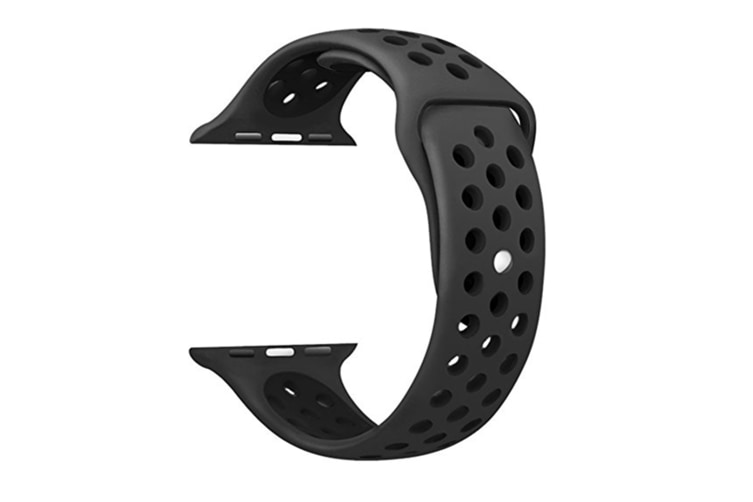 Soft Silicone Replacement Band For Apple Watch Series 3, Series 2, Series 1, Sport , Edition Black Black 38Mm