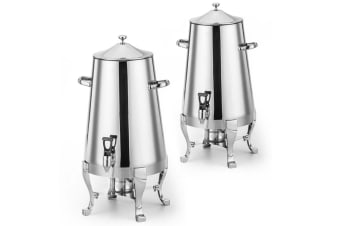SOGA 2x Stainless Steel 13L Juicer Water Milk Coffee Pump Beverage Drinking Utensils