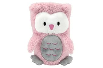 Fou Fou Dog My Pet Blankies 3-In-1 Blanket  Pillow  And Plush Toy (Pink Owl)