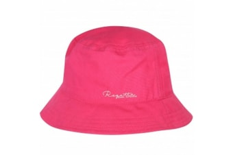 Regatta Great Outdoors Childrens/Kids Crow Canvas Bucket Hat (Hot Pink) (2-4 Years)
