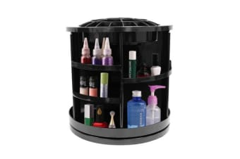 360 Rotating Makeup Organizer Container Spinning Hanger Rack Black