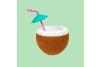 Coconut Umbrella Curly Straw  Sipper Cup  | Official Sunnylife