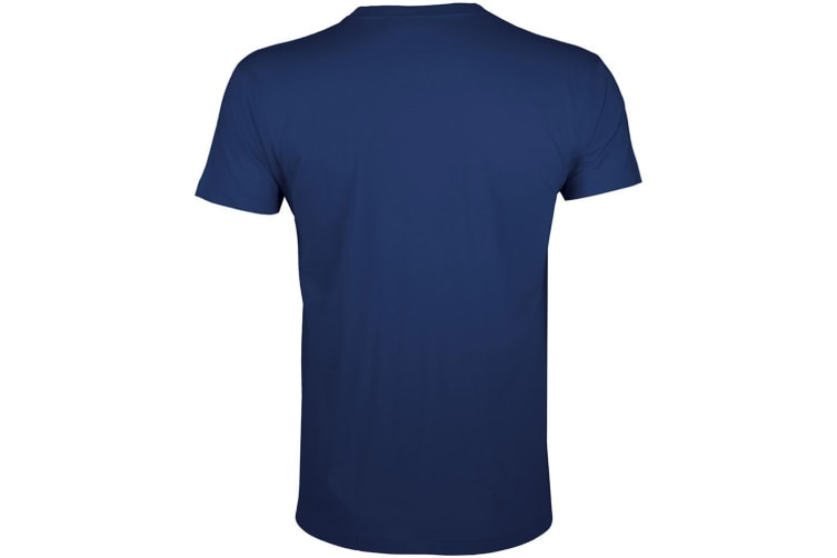SOLS Mens Regent Slim Fit Short Sleeve T-Shirt (French Navy) (L)