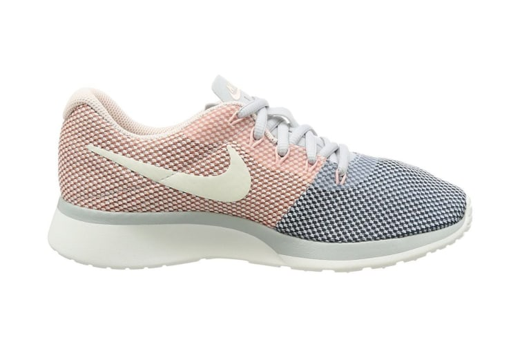 ever popular reliable quality release date: Nike Women's Tanjun Racer Running Shoe (Platinum/Navy, Size 5.5 US)