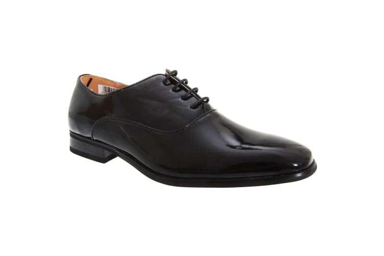 Goor Mens Patent PU With Leather Lining Lace-Up Oxford Tie Dress Shoes (Black Patent) (10 UK)