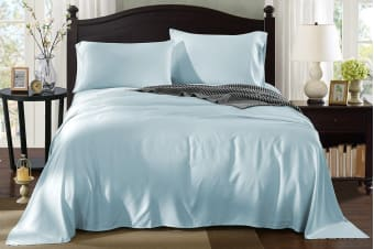 Royal Comfort 100% Natural Bamboo Bed Sheet Set (Double, Chambray)