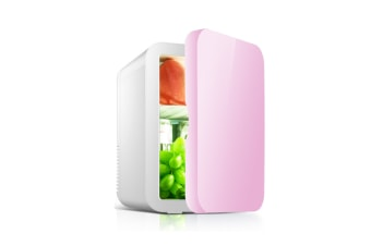 Car portable mini refrigerator Cosmetics refrigeration refrigerator  PINK