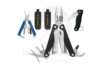 2018 LEATHERMAN CHARGE PLUS + MULTITOOL + BIT KIT + C33 CRATER + SQUIRT BLUE