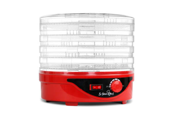 5 Tray Round Food Dehydrator (Red)