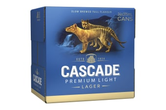 Cascade Premium Light Beer 24 x 375mL Cans 2.4%