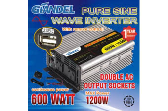 Pure Sine Wave Inverter Thermal Overload Protection 600W