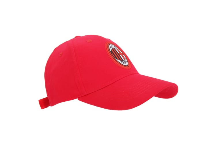 AC Milan Official Core Football Crest Baseball Cap (Red) (One Size)