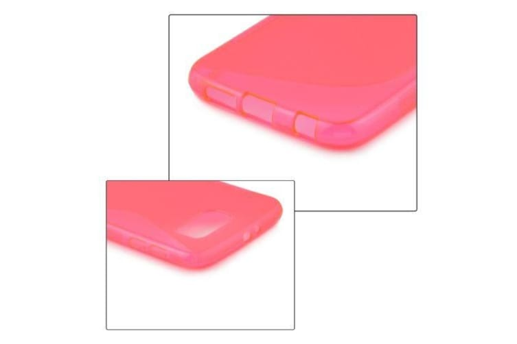 For Samsung Galaxy S6 Case S-Shaped High-Quality Durable Shielding Cover Magenta