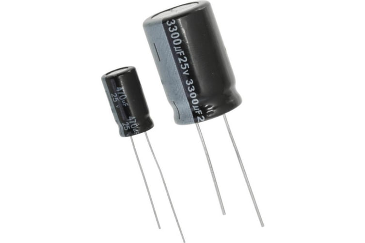 220MF 25V RB Radial Capacitor 105Degree Rating
