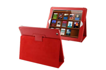 For iPad 2/3/4 Case Modern Lychee Leather High-Quality Shielding Cover Red