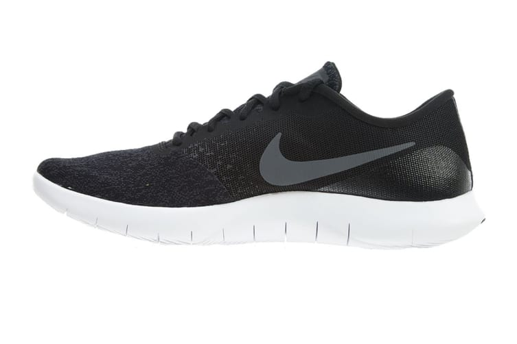 Nike Men's Flex Contact Running Shoes (Black/Dark Grey/White, Size 8.5 US)