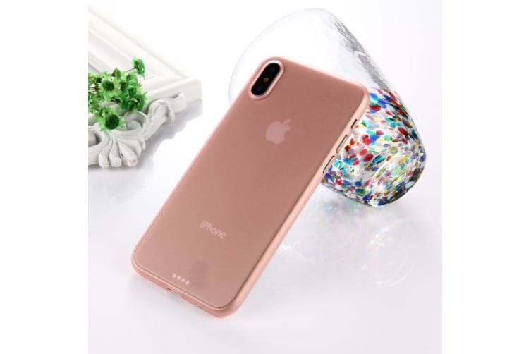 For iPhone XS X Back Case Wear-resistant High-Quality Protective Cover Pink
