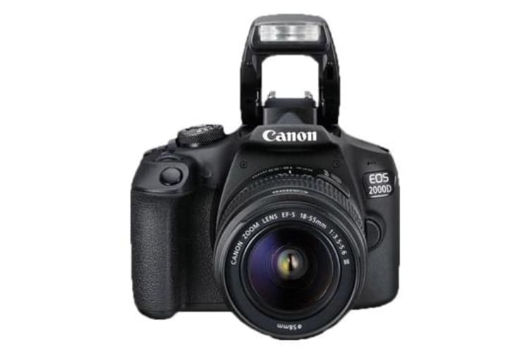 New Canon EOS 2000D Kit EF-S 18-55mm f/3.5-5.6 DC III Digital SLR Camera Black (FREE DELIVERY + 1 YEAR AU WARRANTY)