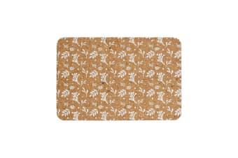 Ladelle Dwell Printed Cork Placemat Set of 4 White