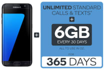 Samsung Galaxy S7 Edge (32GB, Black) + Kogan Mobile Prepaid Voucher Code: MEDIUM (365 Days | 6GB Per 30 Days)