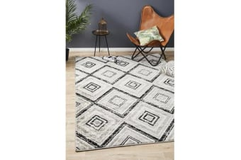 Felicia Grey & Charcoal Soft Vintage Look Rug 400x300cm