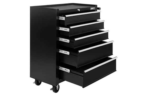 5 Drawers Roller Toolbox Cabinet (Black)