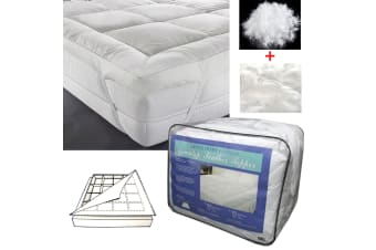 Dual Layer - Top 80% White Down / Back 100% Feather Mattress Topper by Artex