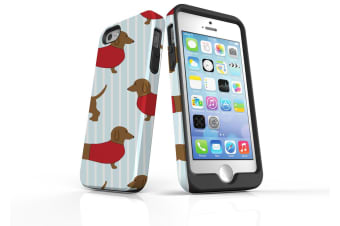 For iPhone SE  5S & 5 Case  Protective Back Cover  Dachshund