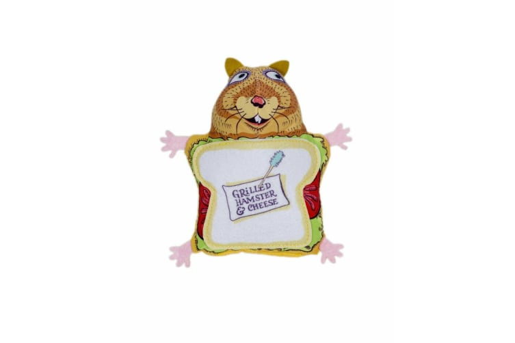 Fuzzu Grilled Hamster & Cheese Cat Toy (Brown/White) (One Size)