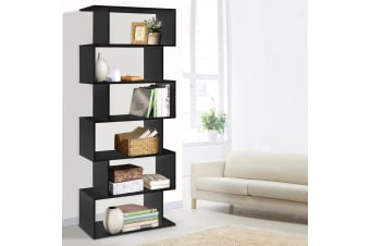 6 Tier Display Shelf Cabinet Storage Bookshelf Bookcase Ladder Rack