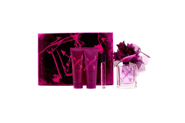 Vera Wang Loverstruck Coffret: Eau De Parfum Spray 100ml/3.4oz + Body Lotion 75ml/2.5oz + Shower Gel 75ml/2.5oz + Rollerball 10ml/0.35oz (4pcs)