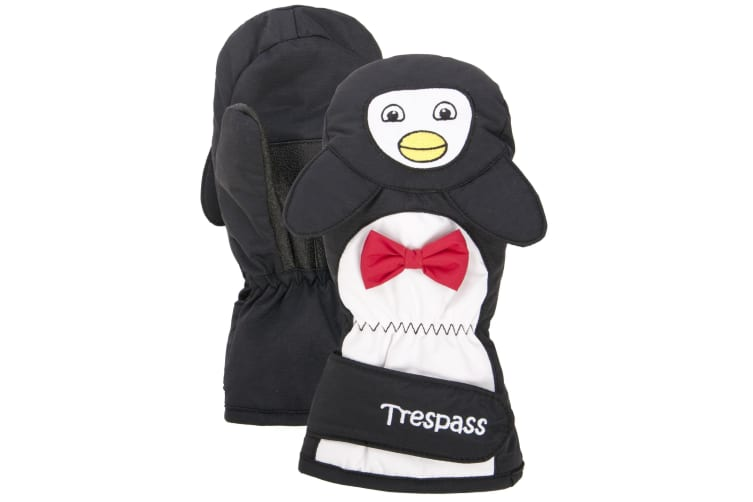 Trespass Childrens/Kids Flip Flap Winter Mittens (Black) (8/10 Years)