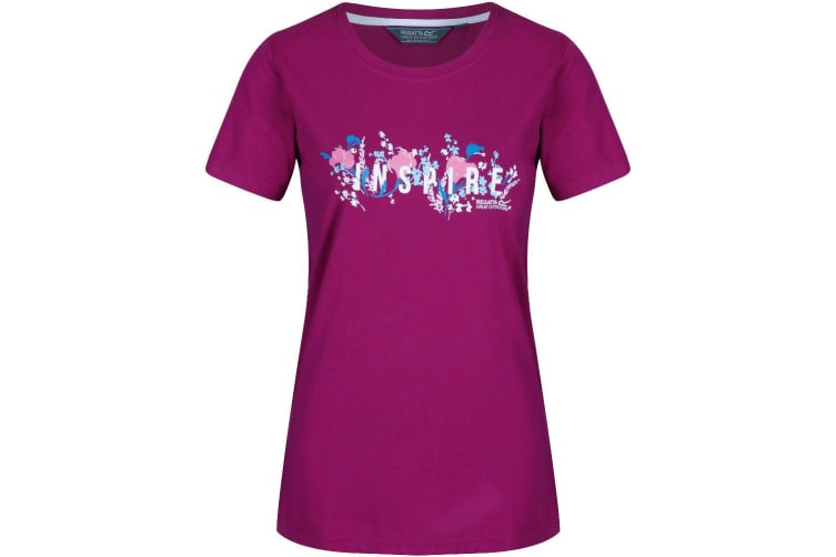 Regatta Womens/Ladies Filandra III Graphic T-Shirt (Beaujolais) (12 UK)