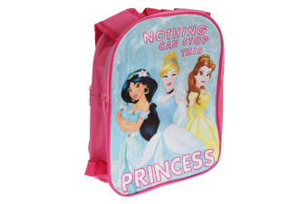 Disney Girls Nothing Can Stop This Princess Backpack With Reversible Straps (Pink) (One Size)