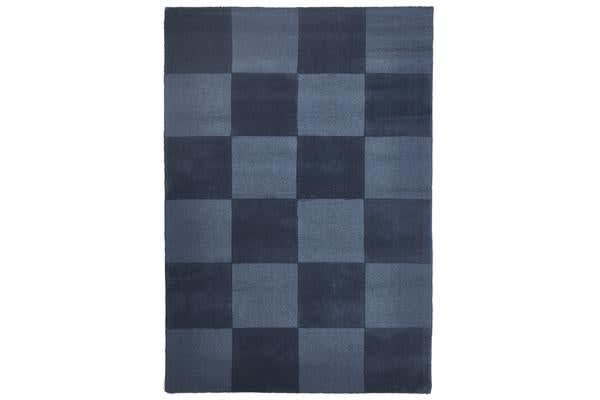 Wool Hand Tufted Rug - Box Petrol - 320x230cm