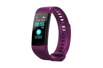 "TODO Bluetooth V4.0 Fitness Band Watch Heart Rate Blood Oxygen Ip67 0.96"" Oled - Purple"